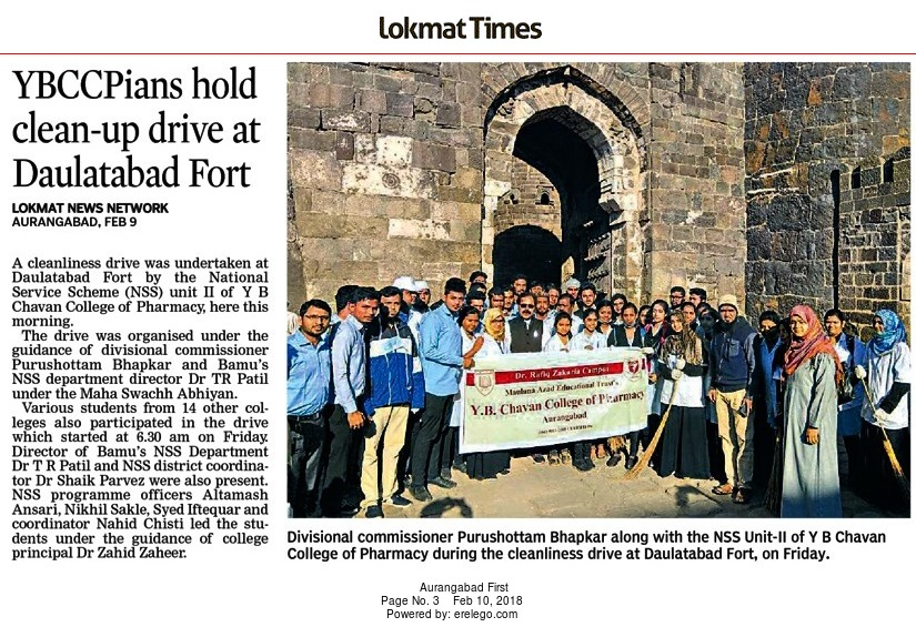 Maha-Swachta-Abhiyan at Daultabad Fort with Divisional Commissioner